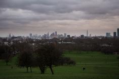 Primrose hill uitzicht over Londen