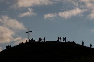 Zonsondergang vanaf de top van de DIedamskopf