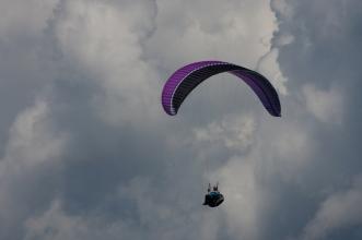 Hangend in de lucht