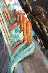 Detail scheepstouwen