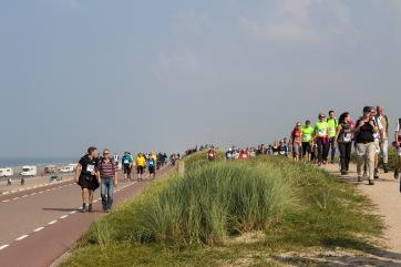 Op de dijk tussen Domburg en Westkapelle