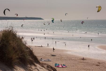 week 22, Kitesurfers bij het Nauw van Calais