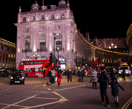 Regent Street vanaf Picadilly Circus
