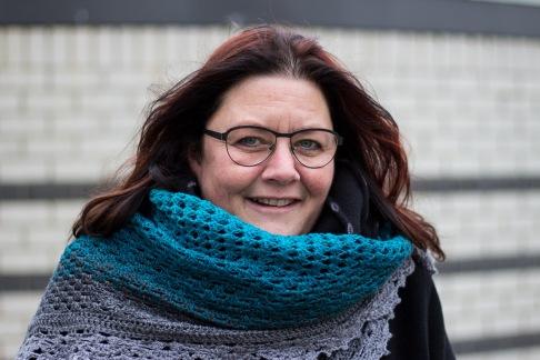 Annemarie met prachtige sjaal