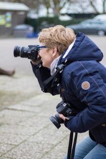 Tineke, onze pro, met 2 camera's!