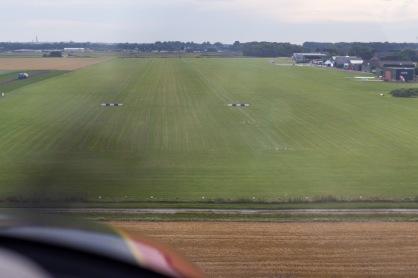 De landingsbaan is helaas alweer in zicht